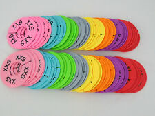 Round Clothing Rack Size Dividers Plastic Hanger Ring Xxs Xxxl 80 Pcs 8 Colors