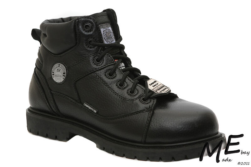 New Skechers Stedman Blaylock Leder Safety Toe Damens Stiefel Sz 8.5 - 76547