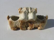 Antique Hand Painted Scotty Scottie Scottish Terrier Dog Figurine Doubl Planter