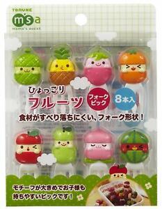 Torune-MSA-Lunch-Bento-Food-Fork-Picks-8pcs-Fruits-Melon-Apple-Peach-Free-ship