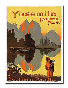 24x32 1949 Santa Fe Yosemite Vintage Style Rail Travel Poster