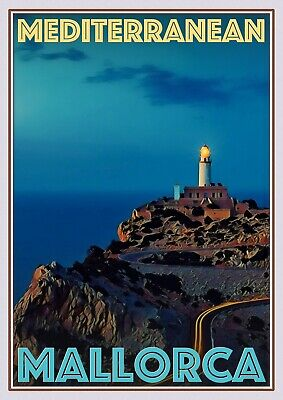 Art Deco Travel Posters Lovely Vintage Retro Holiday  Mallorca Mediterranean