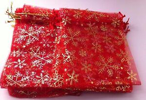 Large organza christmas gift bags