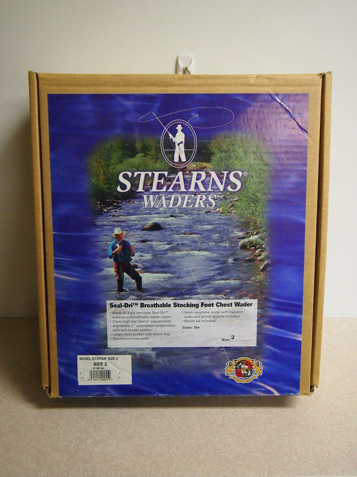 SIZE  2 BREATHEABLE STEARNS CHEST FISHING WADERS S139 TAN  order now lowest prices
