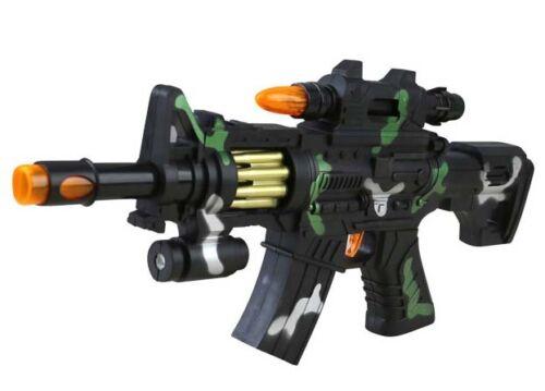 Bambini Ragazzi Esercito giocattolo gioco SOLDATO Gatling LUCE SUONO