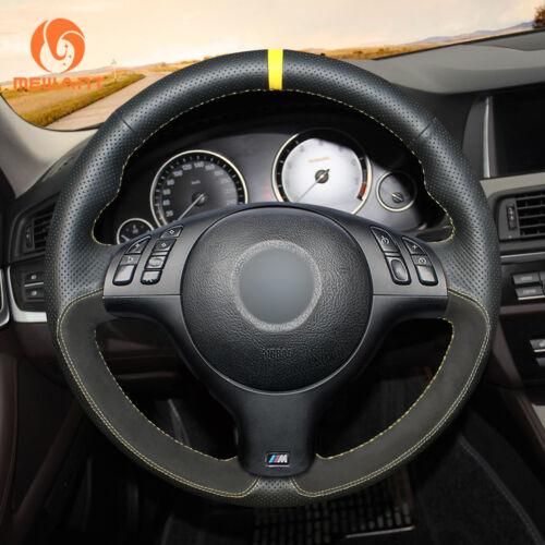 Custom Suede Leather Steering Wheel Cover for BMW E36 E36//5 E46//5 5 Series E39