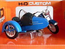 Harley Davidson Modell, 1952 Hydra Glide m. Beiwagen, Maisto Motorrad 1:18