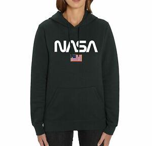 Nasa USA Logo Adults Unisex Black Hoodie