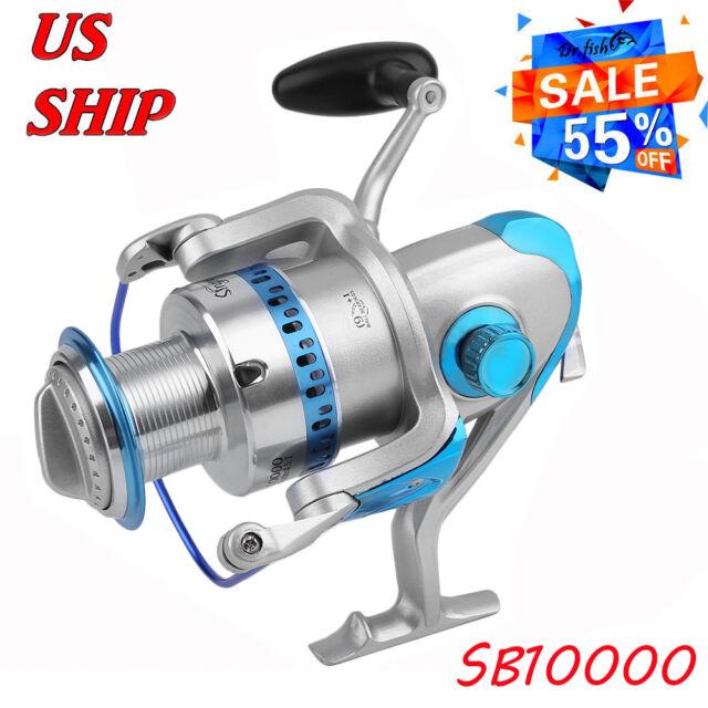 Saltwater Fishing Spinning Reel 10000 10BB Crap Surf Al Spool Heavy Duty Big MX