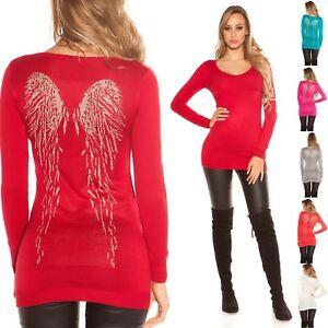 Maglione sml Lungo Ali Donna Ebay Unica D'angelo Pullover Taglia qt6Ez0