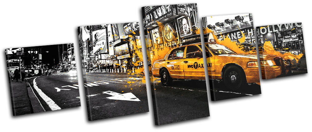 Yellow Taxi New York  City  City  MULTI LONA pa rojo  arte Foto impresion 95a3fd