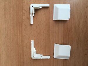 2-x-blanc-ajustement-parfait-aveugle-coins-amp-Caps-roller-Venitiens-ou-plisse-soleil