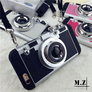 Retro-3D-Camera-Shockproof-Back-Phone-Case-Cover-For-iPhone-6-6s-7-8-Plus-X-5-SE