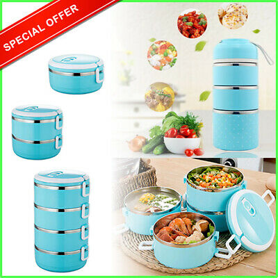 Muilt Layer Leakproof Thermal Insulated Lunch Box Steel Food Container Adult Kid