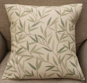 Laura-Ashley-Willow-leaf-Hedgerow-Verde-e-Crema-Copricuscino-Varie-Taglie