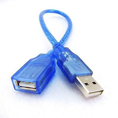 1x Male USB to Female USB Extension Cable Cord  Extender Adapter for Smart Phone