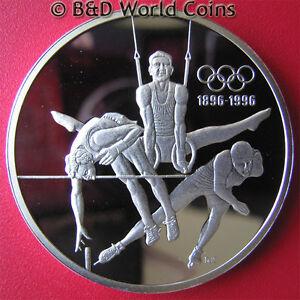 1992-CANADA-15-PROOF-1oz-SILVER-1996-BARCELONA-OLYMPICS-HIGH-JUMP-RINGS-SKATING