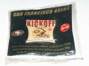 Nuevo-NOS-San-Francisco-Sf-49ers-Coca-Cola-Septiembre-12-2004-Kickoff-Gorro-Pin