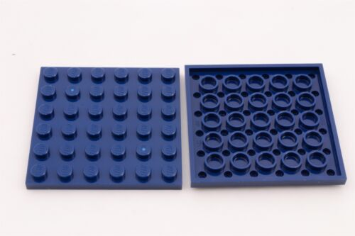 Lego 6x6 Plate Dark Blue Lot of 2 New