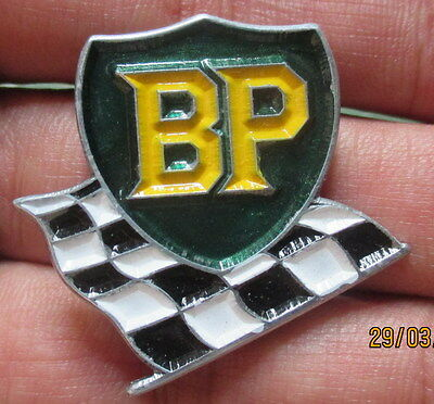 VINTAGE BP OIL SIGN CAN PIN LOGO GAS PUMP SPILL STOCK