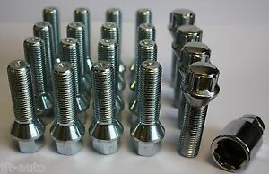 M14-X-1-5-TAPERED-45MM-ALLOY-WHEEL-BOLTS-amp-LOCKING-FITS-SEAT-TOLEDO-5-STUD-ONLY