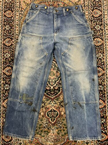 Vtg Carhartt Double Knee Work Pants Size 34x30 Mad
