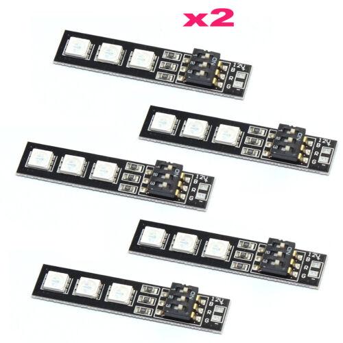 10pcs RGB DEL 5050 Light Board 5 V 12 V 3 S 4 S 7 COULEURS Commutateur de Contrôle Radio 250 Q250 FPV
