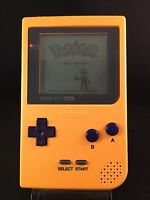PERFECT CONDITION ** SCRATCH FREE * YELLOW * GAMEBOY POCKET MGB-001 CONSOLE