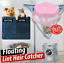 Washing Machine Floating Filter Catcher Laundry Lint Pet Hair Remover Plum Type