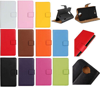 Colored Magnetic Flip Leather slot wallet Cover stand Case For Various Phones