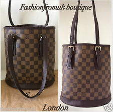 LOUIS VUITTON DAMIER EBENE BUCKET SHOULDER BAG