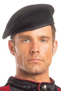 Details about men s BE WICKED french ARTIST military SOLDIER cadet BERET hat  COSTUME accessory b8b497b4353