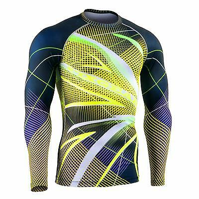 FIXGEAR CFL-F71 Compression Shirts Fluorescence Color MMA Workout Crossfit Yoga