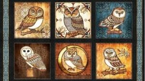 OWL-OWLS-QUILTING-TREASURE-FABRIC-WHERE-THE-WISE-THING-PICTURE-PATCHES-23-034-x44-034