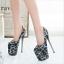 Indexbild 7 - 50 Lace 19cm Heels Stilettos Platform Damenschuhe Herren Crossdress Metal Pumps