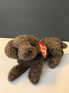 New Ty Beanie Baby Fetcher the Dog in Pristine Condition, Very Rare Collectible