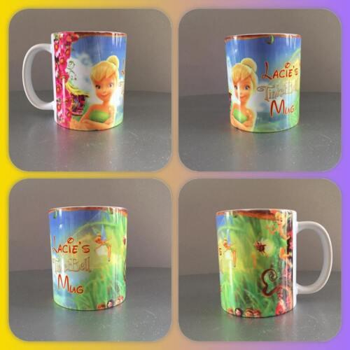 personalised tinker bell Tinkerbell peter pan fairy pixie mug lost boys cute :