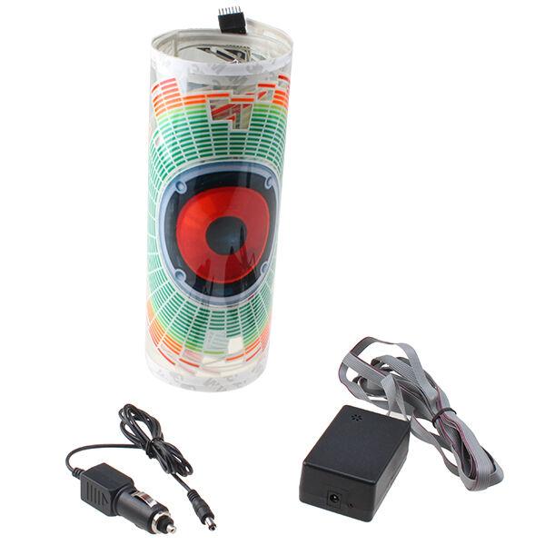 90 x 25cm Car Music Rhythm LED Light Lamp Sticker Sound Activated Equalizer Horn