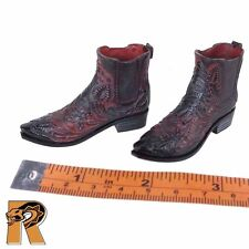 GK Diamond 5 Ralap - Cowboy Boots (for Pegs) - 1/6 Scale Damtoys Action Figures