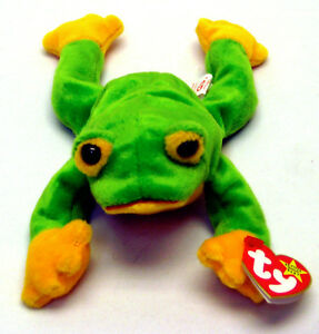 10cfe5bd5a6 Image is loading Rare-1997-TY-Beanie-Babies-Smoochy-the-frog-