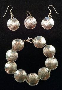 Widows Mite Bracelet Earrings Israel Israeli 5 Agorot