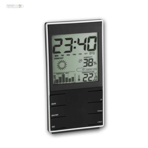 Hygrometer digital Uhr Raumklima Ttemperatur Luftfeuchte Messgerät Thermometer