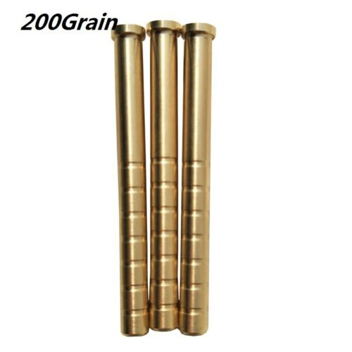 12pcs Archery Arrow Inserts Weight ID6.2mm Copper Arrowhead Connector 100-300Gr