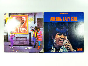 LOT OF 2 Aretha: Lady Soul & Who's Zoomin Who? | Vinyl LP | VG/VG+