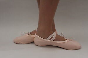 Ballet-Shoes-Slippers-Pink-Canvas-Adults-Sizes-Dance-Gymnastics-Yoga-Shoes-New
