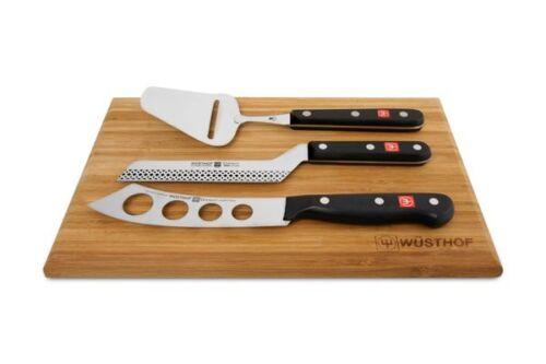 Wusthof Gourmet 3pc fromage Couteau /& Coupe Set avec planche à découper