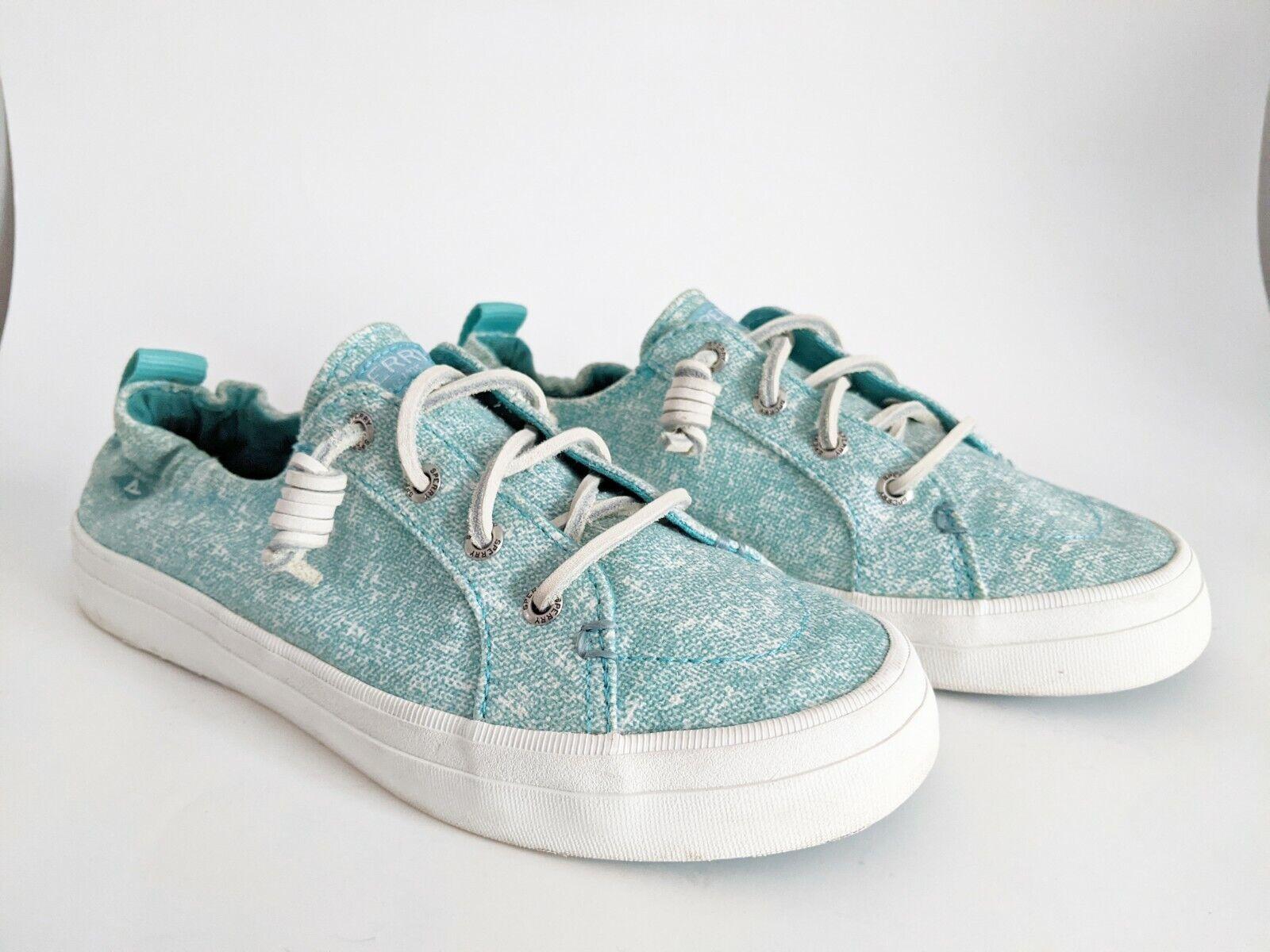 Sperry Top-Sider Women's Crest Ebb Turquoise Sneaker Shoe 6.5 Slip On Boat Shoe