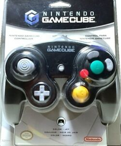 Nintendo-Gamecube-Controller-Jet-Black-Great-Condition-Fast-Shipping