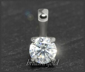 Diamant-585-Gold-Damen-Anhaenger-Brillant-0-47ct-Top-Wesselton-Si2-Weissgold