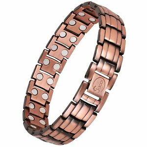 Image Is Loading Double Magnet Pure Copper Magnetic Therapy Bracelet Pain